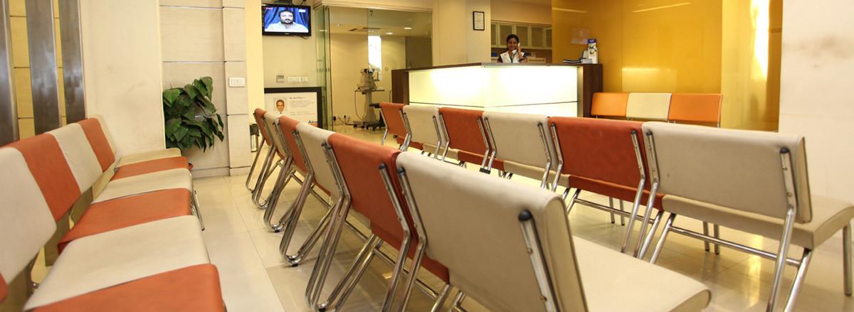 Waiting area at Eye7