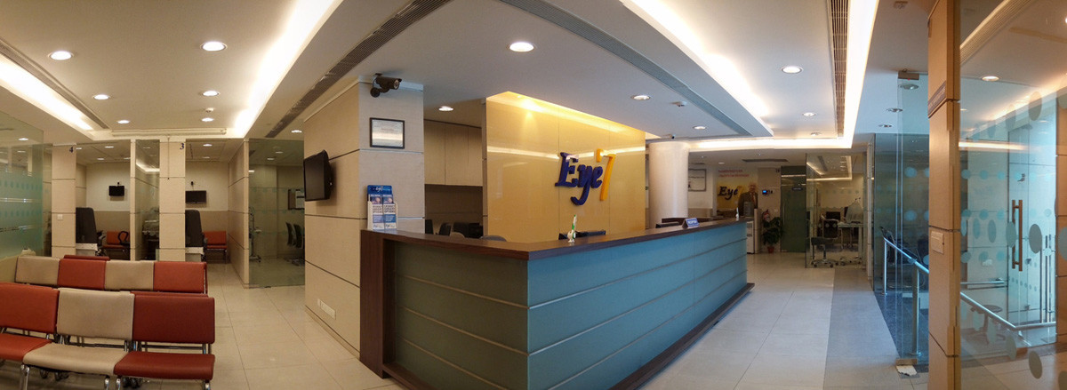 Wide angle view of at Eye7 interiors