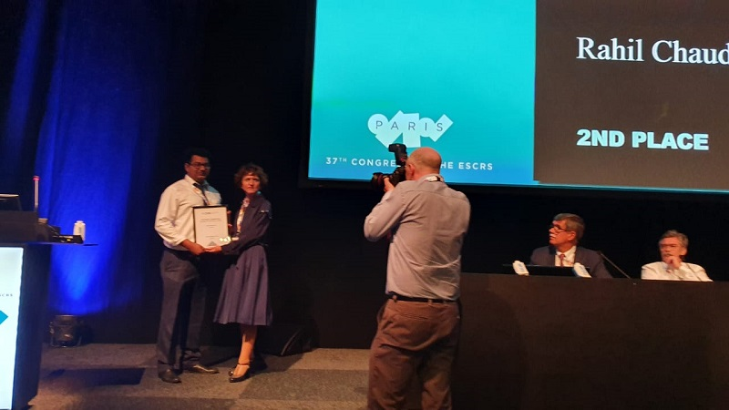 Dr. Rahil Chaudhary awarded Best Video for his new technique in managing Cataracts at ESCRS Conference, Paris, 2019