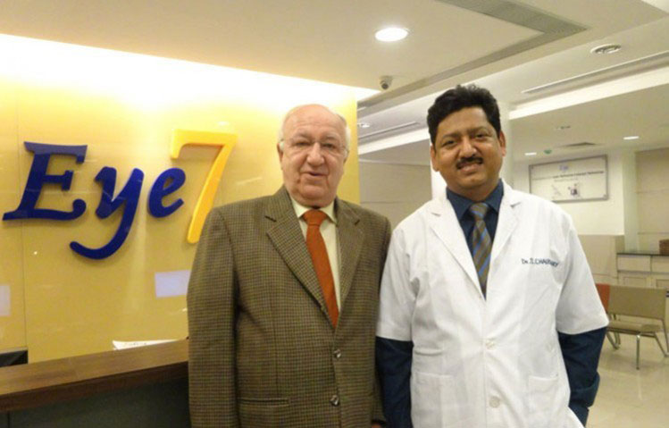 Russian Ambassador At Eye7 Chaudhary Eye Centre For Blade-Less Femto Laser Cataract Surgery (FLACS)